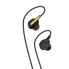 Noise Reduction Heavy Bass Subwoofers In-Ear Wire Sports KTV Universal Mobile Phone Earphone black Normal