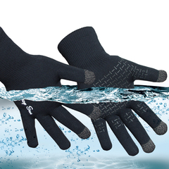 RANDY SUN Touch Screen Waterproof Gloves Outdoor Sports Gardening Climbing Cycling Driving 1 Pair Black M