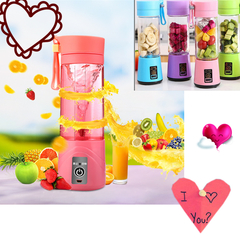 Machine Multifunctional Portable Fruit Juice Press Household Electric  Food Processing Machine blue two blades