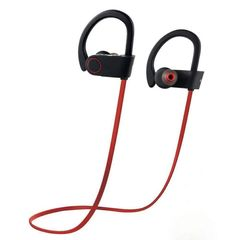 U8 Sports Dual Hanging Ear Stereo Headset is Wireless Bluetooth red