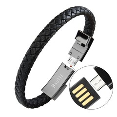 Creative Explosive Bracelet Data Line for OPPO Apple Huawei and Type-c black iphone 22.5cm