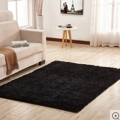 Fluffy Soft and Tender Carpet - Black Black 5*7