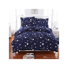 4 Pcs of Duvet Set ( 1 Duvet, 2 Pillow cases and 1 Bed-sheet ) multicolour 5*6