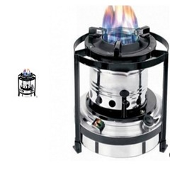 Portable Kerosene Stove Silver and Black 3 Liters