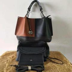 Fashionable Ladsies Handbags Black & Brown 3in1