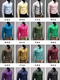 Men Fashion Embroidery Multicolor Base Printing Shirt Large Size Slim Long Sleeve Shirt Green s champagne 3XL