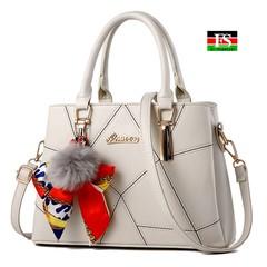 Women's bag Hair Ball Handbag Scarf Bucket Bath Bag Mother Bag Women Shoulder Messenger Bag white one size