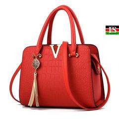 Women Handbags PU Leather Top Handle Satchel Tote Purse Shoulder Bags red 10.83*4.73*7.87in