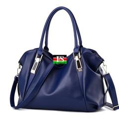 Handbag Female PU Leather Bags Handbags Ladies Portable Shoulder Bag Office Ladies Bag Totes blue 14.57*6.3*9.06in