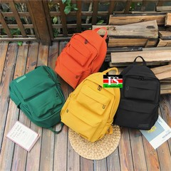 Waterproof Nylon Backpack for Women Multi Pocket Travel Backpacks Female School Bag for Girls yellow 11.82*5.12*15.75in