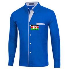Mens shirts Camisa Masculina Long Sleeve Shirt Men Korean Slim Design Formal Casual Male Dress Shirt dark blue 4xl