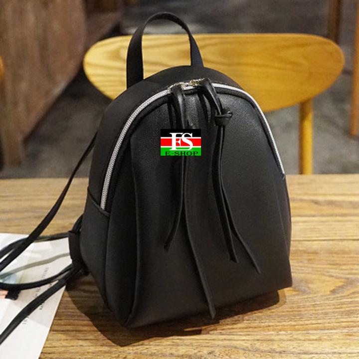 small backpack women Multi-Function mini backpacks female School bagpack bag for teenage grils black 9.84