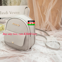Mini Backpack Women PU Leather Shoulder Bag Function Small Bagpack Female Ladies Phone Pouch Pack grey 8.27*7.29*3.15in
