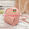 Mini Backpack Women PU Leather Shoulder Bag Function Small Bagpack Female Ladies Phone Pouch Pack pink 8.27*7.29*3.15in