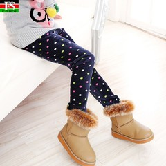 Children Pants Autumn Winter Baby Leggings Colorful Print Flower Butterfly Love Girls Pants 1 120