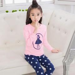Kids Pajamas 2019 Autumn Girls Boys Sleepwear Nightwear Baby Infant Clothes Pajama Sets 100% Cotton B01 100