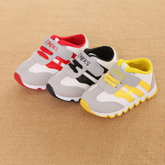 Shoes Girl kids fashion glowing casual shoes baby boy  breathable lightweight sports shoes black 21