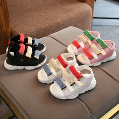 Shoe girl child fashion casual shoes boy breathable sandals flip-flops black 21