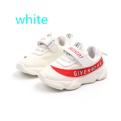 Shoes 2019 NEW Girl kids fashion glowing casual shoes baby boy LED flash breathable sports shoes white 23