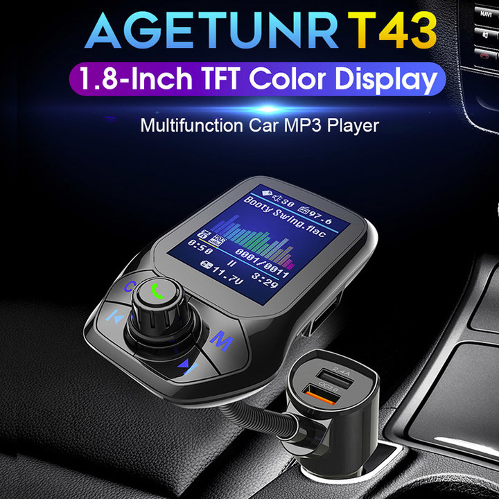 Bluetooth Car Kit FM Transmitter MP3 Player Audio Hands free Radio Adapter USB Charger Accessories