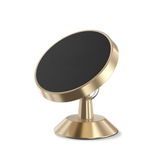 Universal Car Holder 360 Degree Magnetic  Mobile Phone Holder Stand Magnet Air Vent Grip Mount Gold One Size