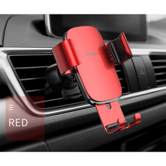 Car Phone Holder No Magnetic Gravity Stand Support Universal Smartphone Mount Holder Stand red one size