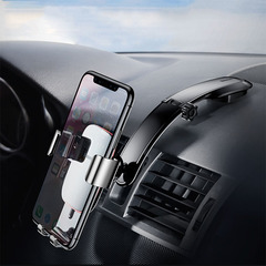 Metal Car Phone Mount Holder  Foldable Gravity Mobile Phone Holder for Dashboard Paste Car Stand black one size