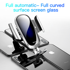 Touch Sensing Electric Controlled Car Phone Holder For Mobile Phone  One-Hand Operation Car Holder Silvery one size
