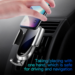 Touch Sensing Electric Controlled Car Phone Holder For Mobile Phone  One-Hand Operation Car Holder Black one size