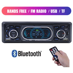 Car Audio Bluetooth Handsfree Multimedia Car Radio Mp3 Player Phone Charge FM Auto Radio Stereo