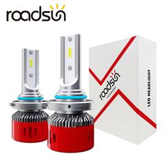 ROADSUN 2PCS 60W Car Headlight Lamp LED Bulbs Headlamps Kit Fog light LED Lamp H1/4/7/8/9005/9006 white h1