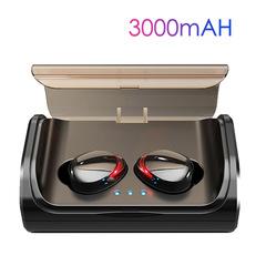 Bluetooth 5.0 Wireless Earphones In-Ear Noise reduction Waterproof  3000mah charging box black