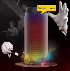 Wireless Bluetooth Speaker LED Colorful Audio Outdoor Portable Mini Subwoofer Universal red one size