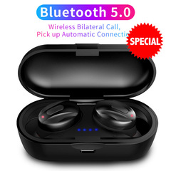 Bluetooth Earphones Sport Wireless Earbuds Handsfree  Stereo Dual Headset For iPhone All Smartphone black