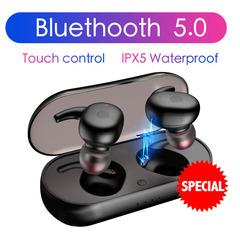 Headphones Bluetooth 5.0 Wireless Earphones Sports Earphone  Stereo Sound Earbud with  Charging box black