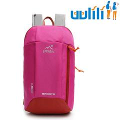 UULILI  Backpack Unisex Mountaineering Polyester fiber BagWaterproof Bags Backpacks Sports Bags Rose red 9*4*16(in)