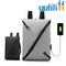 UULILI  Laptop Backpack USB Nylon Charging Anti Theft Men Travel Backpack Waterproof School Bag gray 9*6*15(in)