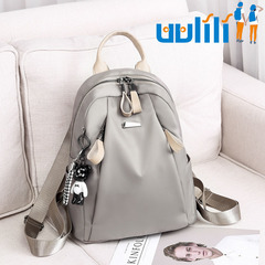 UULILI  Women Oxford  bookbags Female Rucksack School Backpacks For Teenagers Girls Fashion Travel Khaki 10*5*12(in)