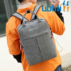 UULILI  Business Laptop Bag Backpack USB Men's Fashion Backpack & Travel Bags light gray 11*5*15(in)