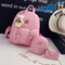 UULILI  Double Shoulder Bags Pu backpack Student fashion backpack  Korean Style  Women Lash package pink 10*5*12(in)