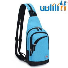 UULILI Shoulder bag for men and women Inclined shoulder bag Sports bag  Outdoor chest package blue 7*3*13(in)