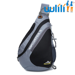 UULILI The new Chest package  Korean style Single shoulder bag Outdoor messenger bag Sports backpack black 11*5*17(in)