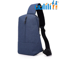 UULILI The new Multi-function chest bag Man's messenger bag Large chest bag blue 7*3*13(in)