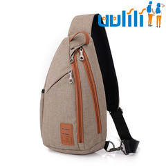 UULILI The new Men's chest package Shoulder bag Outdoor travelling bag khaki 9*4*15(in)