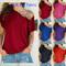 Women Skew Neck Irregular Criss Cross Blouse Patchwork Tops Blusa Femme One Shoulder Summer Shirt Wine Red s