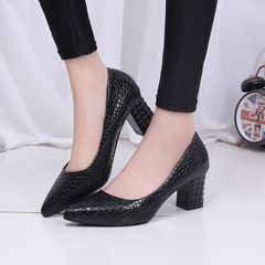 Ladies shoes, women's high heels, women's single shoes,  professional shoes for womens Black 40