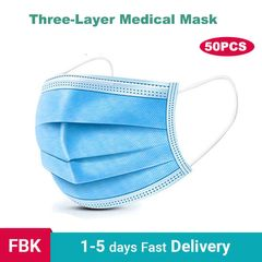 50 Pcs Medical Disposable Mask Anti-Dust Bacteria Proof Medical Face Masks 50 pcs