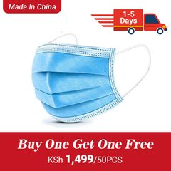 (Buy One Get One Free )50 Pcs 3-Ply  Disposable Face Mask With Elastic Earloop High Quality 50 pcs