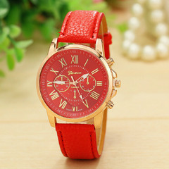 Vintage Women Watch Red Bracelets Quartz Casual Women's Dress Watches red one size