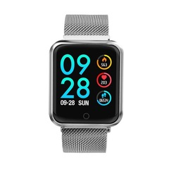 P68 Sports IP68 Fitness Bracelet Activity Tracker Heart Rate Monitor Blood Pressure Smart Watch silver one size